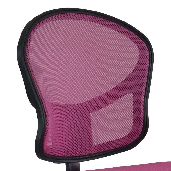 Chaise de bureau pivotante rose bonbon travail meuble fauteuil appartement chambre d'enfants – Bild 3