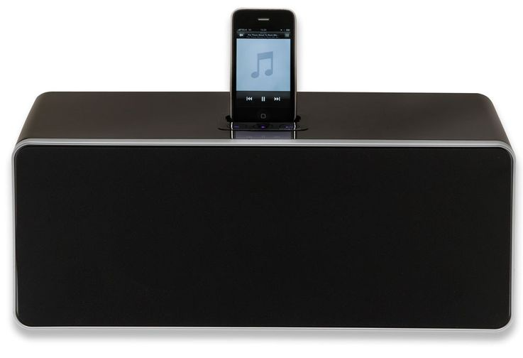 Docking-Station Hifi-Anlage iPod iPhone MP3 Fernbedienung Denver IFI-710 schwarz – Bild 1