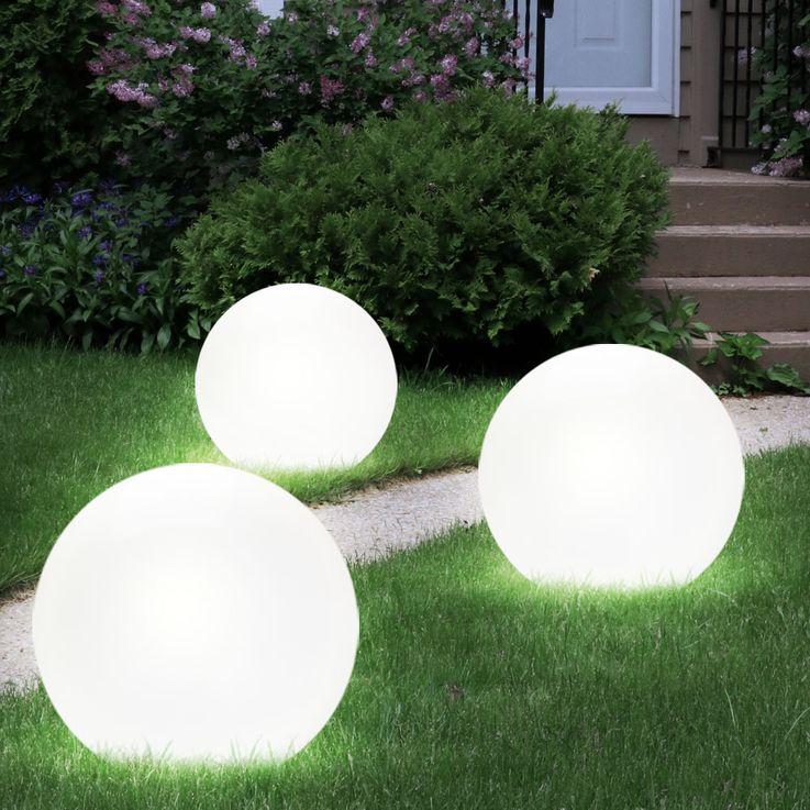 Solar Gartenlampe Erdspieß Kugel Solar LED Aussenleuchte Licht Leuchte Globo 3375 – Bild 6