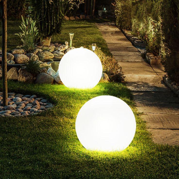 Solar Gartenlampe Erdspieß Kugel Solar LED Aussenleuchte Licht Leuchte Globo 3375 – Bild 7