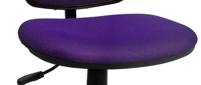 Chaise violette bureau pivotante hauteur réglable chambre d'enfants travail meuble maison – Bild 3