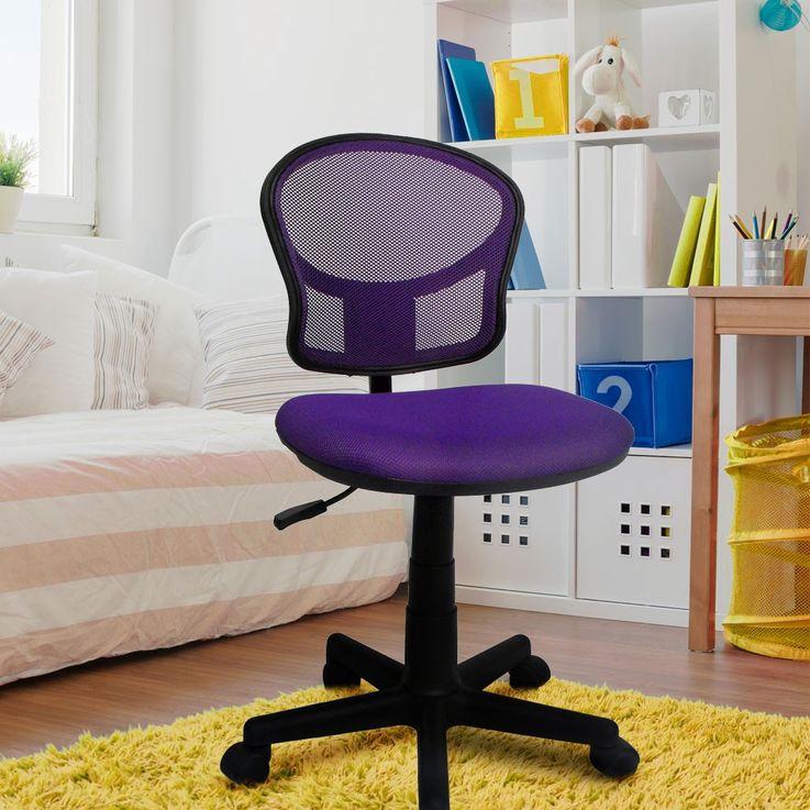 Chaise violette bureau pivotante hauteur réglable chambre d'enfants travail meuble maison – Bild 5