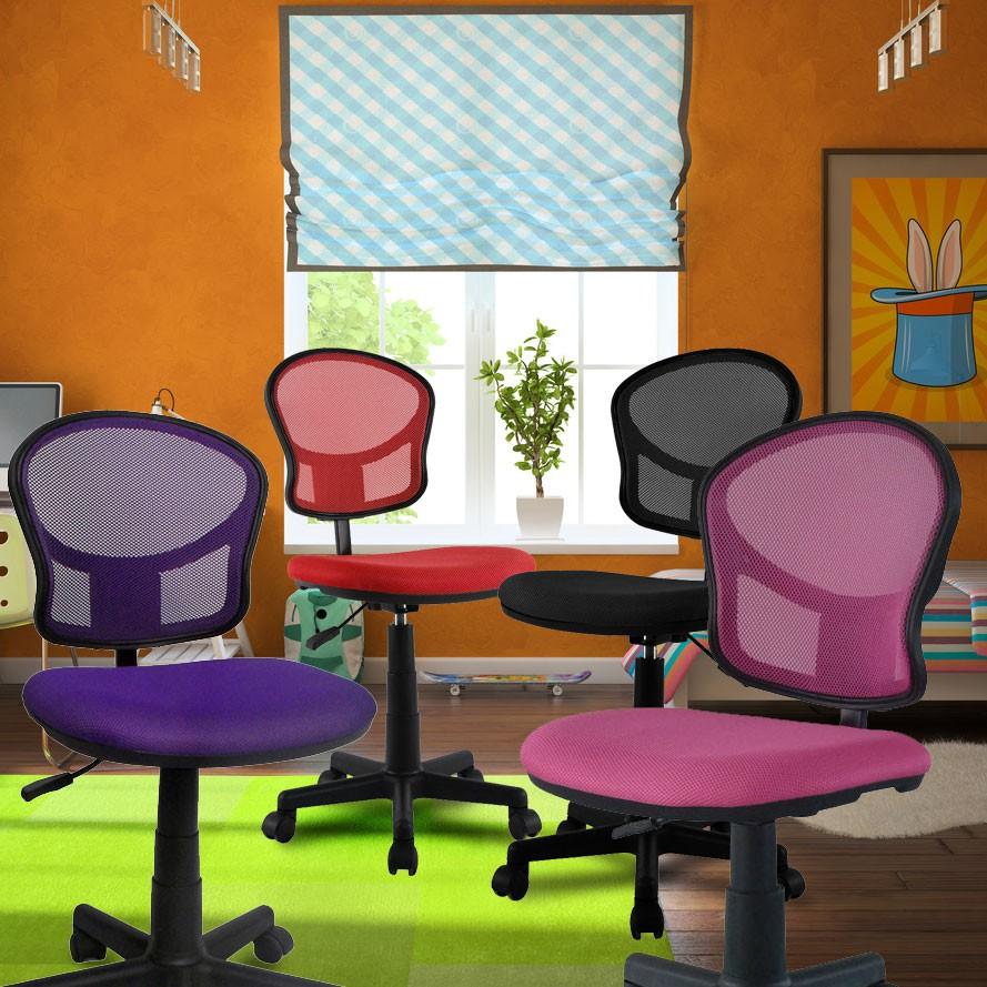 design schreibtischstuhl b ro drehstuhl kinder stuhl drehstuhl pink lila grau ebay. Black Bedroom Furniture Sets. Home Design Ideas
