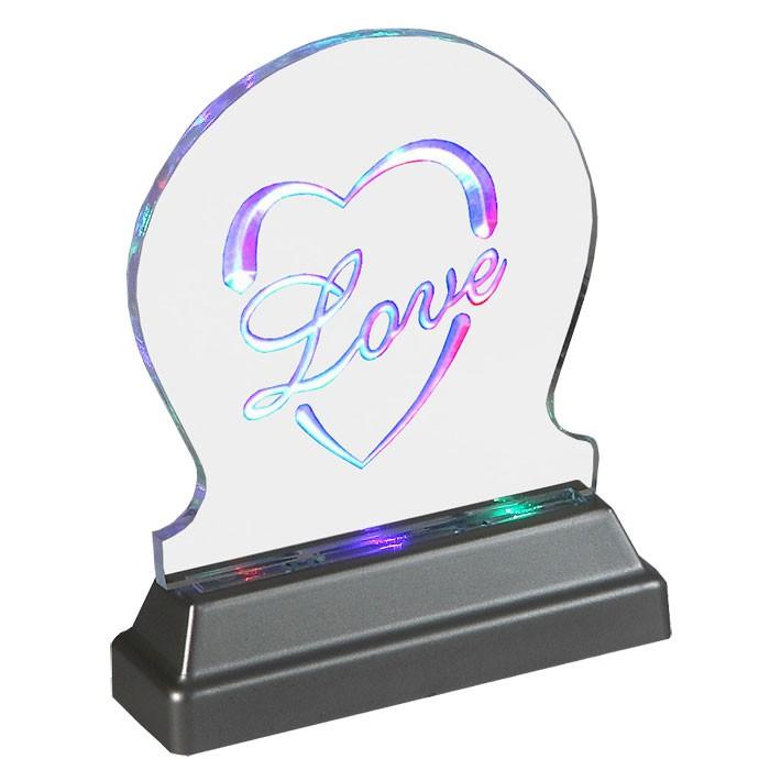 Lampe DEL effet DEL multicoloré changeur des couleurs ACRYLO DEL love  – Bild 1