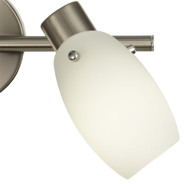 Wandlampe aus Stahl und satiniertem Glas energiesparend DANA – Bild 12