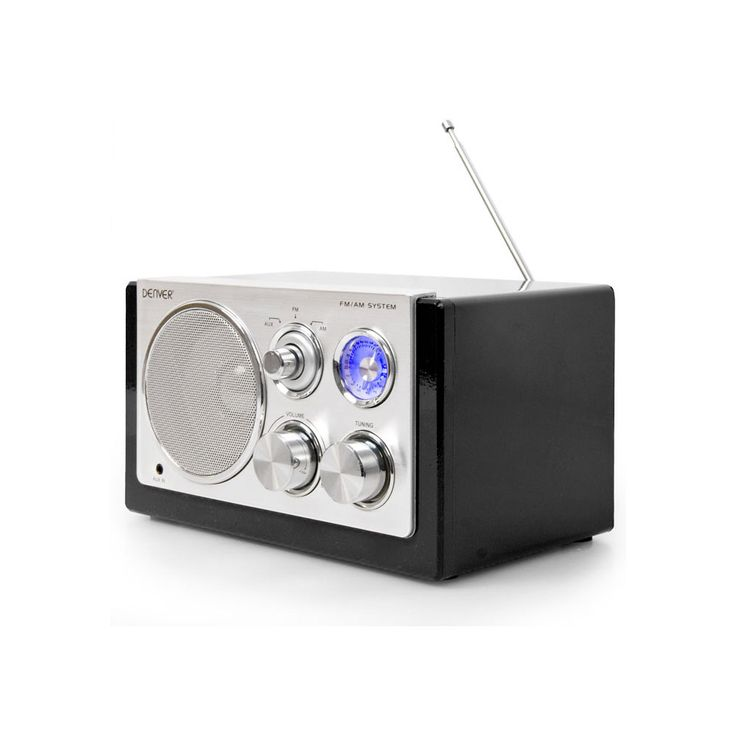 Tragbares Mini-Radio AM/FM Teleskop Antenne Portabel Küche Denver TR-61 schwarz – Bild 4