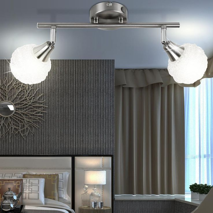 Decken Leuchte Wand Strahler Wohn Ess Schlaf Zimmer Lampe Spot Globo OXYD 5964-2 – Bild 4