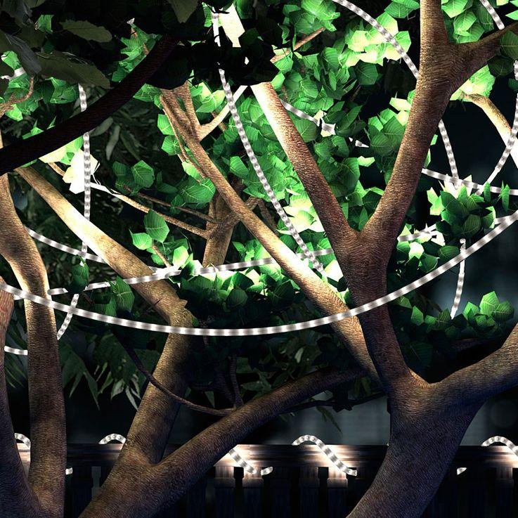 LED Leuchtschlauch LIGHT TUBE aus weißem Kunststoff 144 LEDs – Bild 3