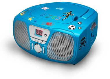 CD Radio Stereo system including Sticker Toploader BigBen Kids blue cd46b_stckr – Bild 2