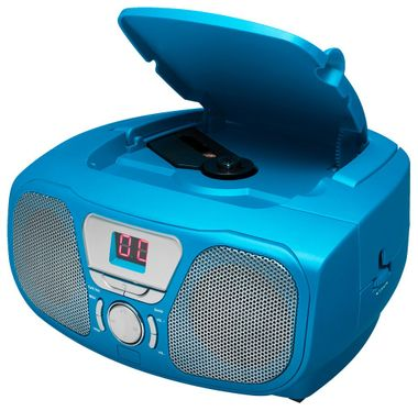 CD Radio Stereo system including Sticker Toploader BigBen Kids blue cd46b_stckr – Bild 5