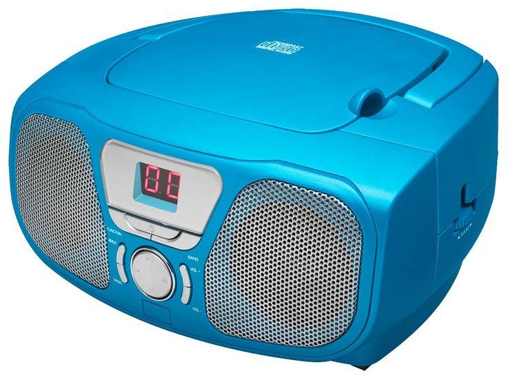 CD Radio inkl Sticker Toploader Anlage Stereo UKW BigBen Kids blau cd46b_stckr – Bild 3