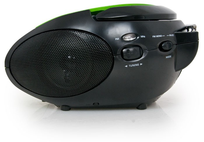 Portable CD Player FM Radio FM Tuner Battery Lenco SCD-24 Green-Black – Bild 3