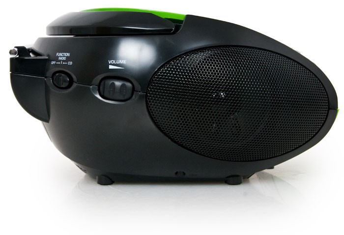 Portable CD Player FM Radio FM Tuner Battery Lenco SCD-24 Green-Black – Bild 4