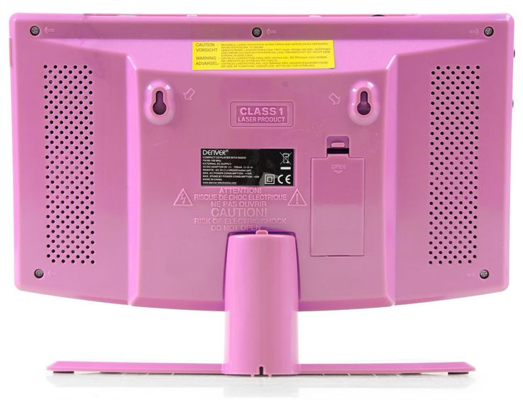 Mini stereo compact system  alarm clock CD-player aux radio Denver MC-5220 pink – Bild 4