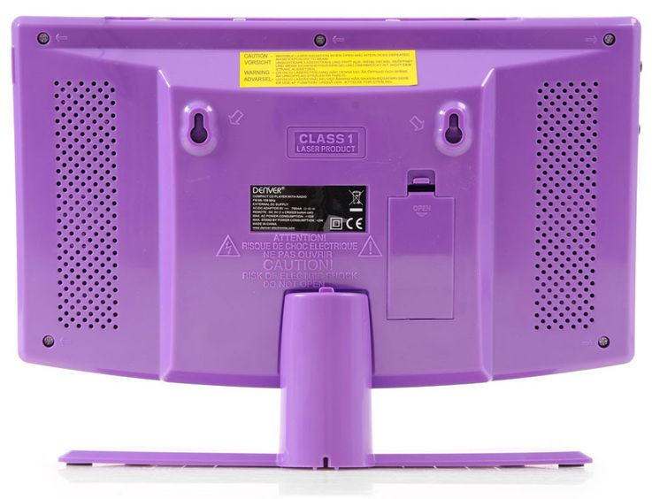 Mini compact stereo system clock radio CD player aux-in Denver MC-5220 purple – Bild 5