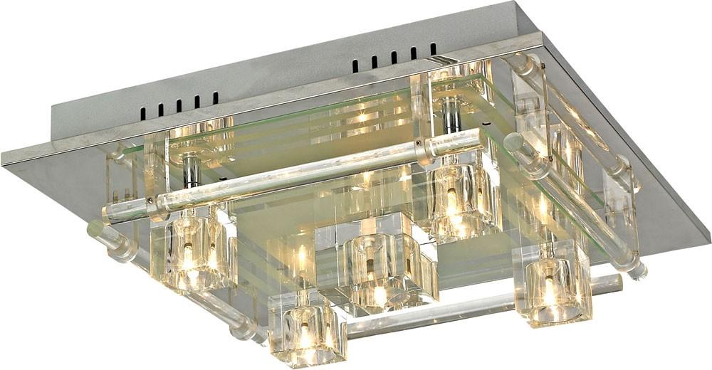 LED RGB Deckenlampe inkl 15 LEDs und Fernbedienung ZIRKONIA Lampen ...