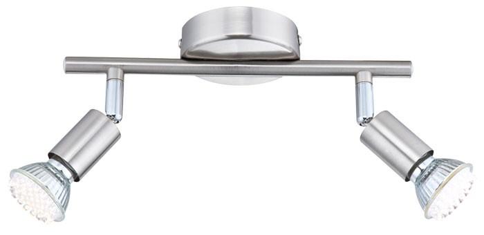 Éclairage plafonnier DEL spot nickel Globo Matrix 57991-2 – Bild 1