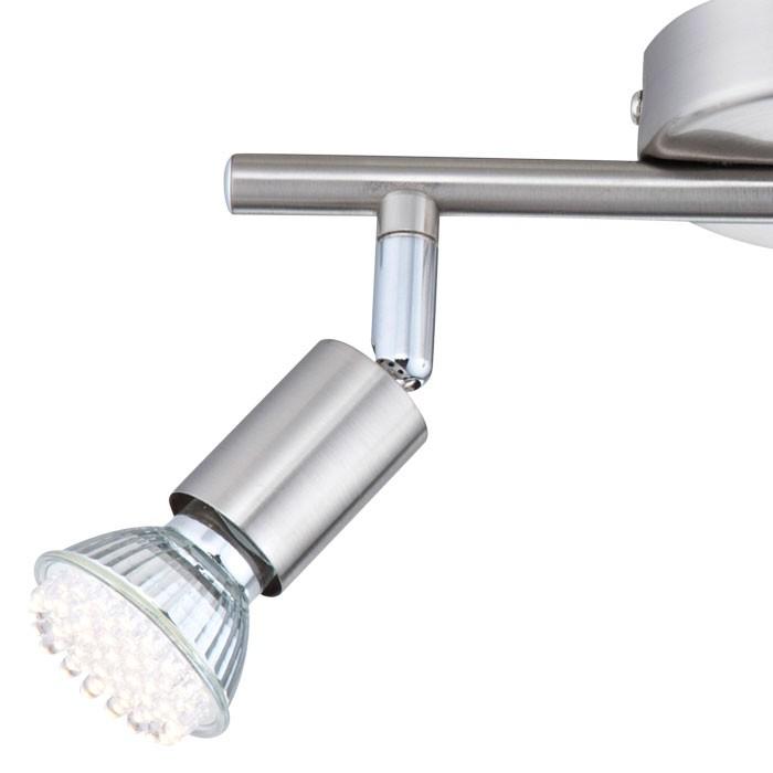 Deckenleuchte LED Spot Strahler Deckenlampe Deckenspot Nickel Globo Matrix 57991-2 – Bild 7