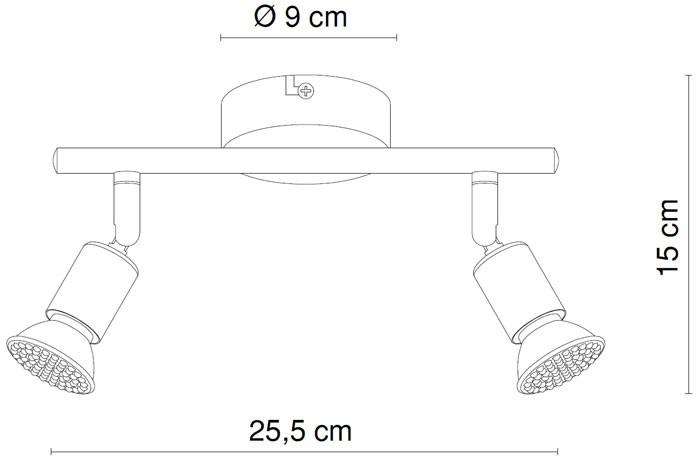 Deckenleuchte LED Spot Strahler Deckenlampe Deckenspot Nickel Globo Matrix 57991-2 – Bild 6