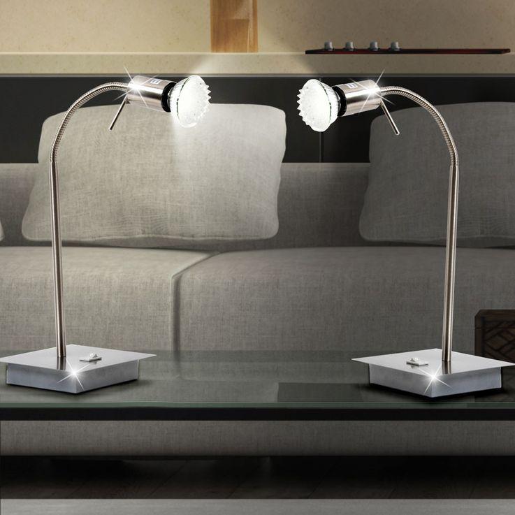 Tischleuchte Schreibtischleuchte LED Lampe Leuchte Energiesparlampe Globo Matrix 57991-1T – Bild 3