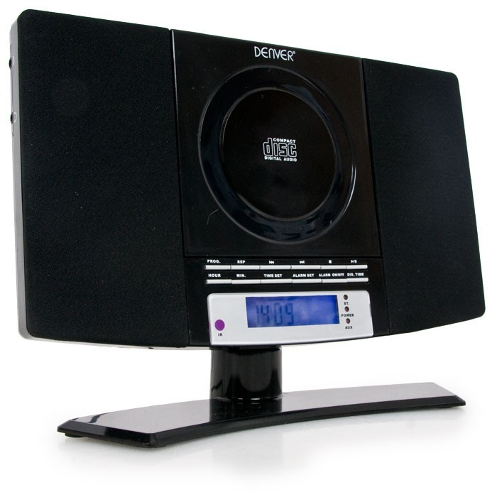 Mini system  compact sytem  alarm clock CD-Player MP3 radio Denver MC-5220 black – Bild 1