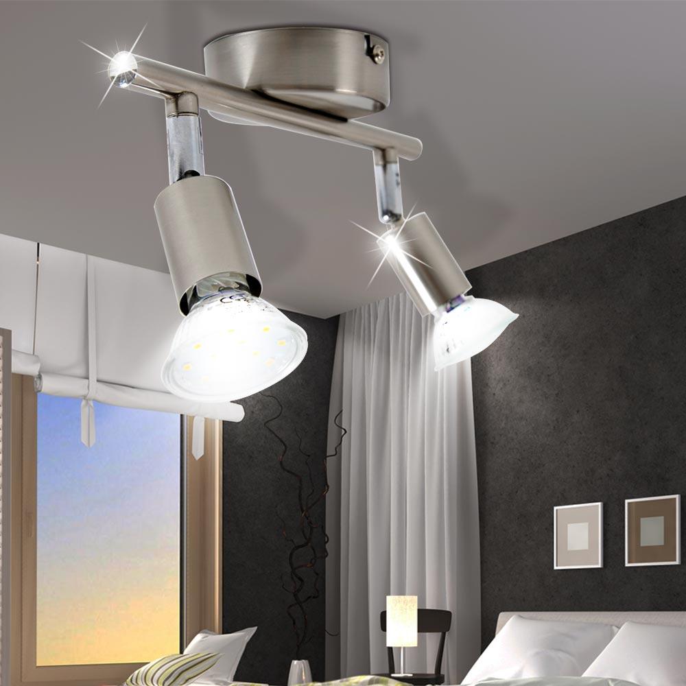 design led decken wand spot strahler lampe beweglich b ro flur diele beleuchtung ebay. Black Bedroom Furniture Sets. Home Design Ideas