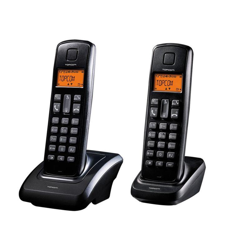 Cordless DECT-telephone 2 Pack Butler ECO E700 twin Handsfree function TE-5702 – Bild 1