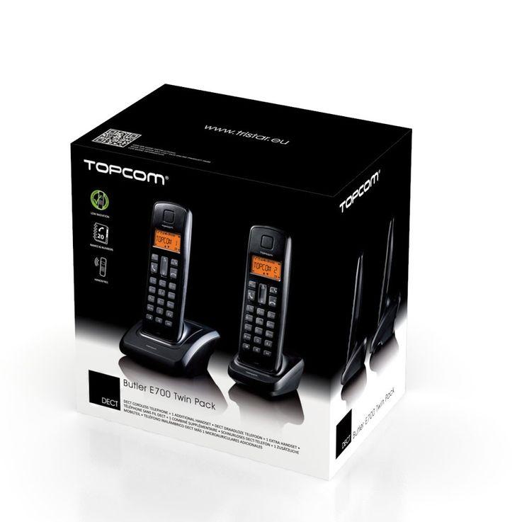 Cordless DECT-telephone 2 Pack Butler ECO E700 twin Handsfree function TE-5702 – Bild 2