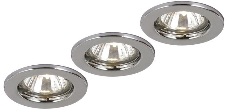 Recessed light fitting lamp spotlights lighting metal chrome 50W Globo 12101-3 – Bild 1