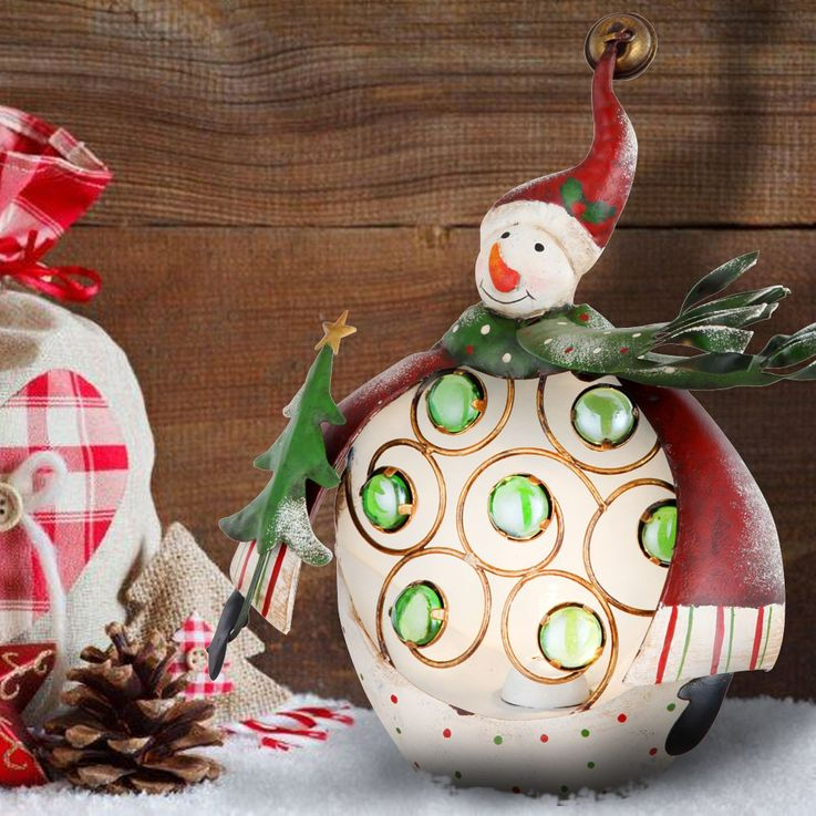 Christmas table decoration lamp stand figure stand lamp snow man Globo 23204 – Bild 2