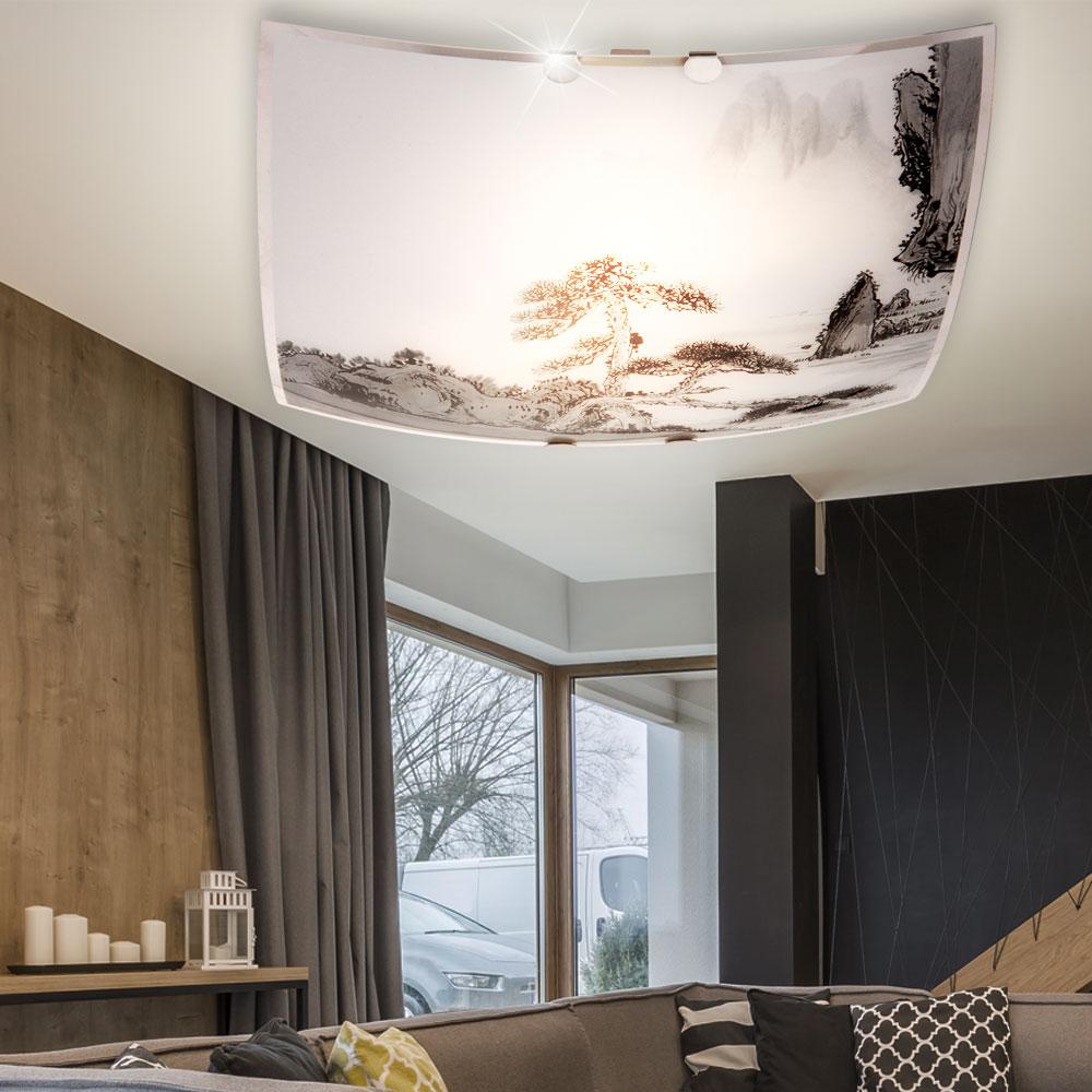 Decken Leuchte Wohn Zimmer Glas Beleuchtung Spot Strahler