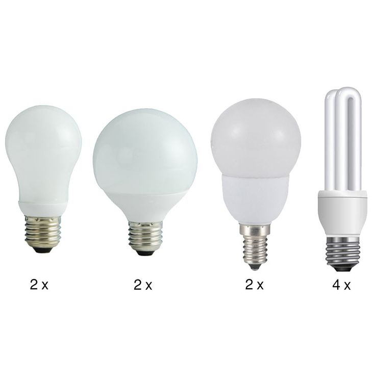 Energy-saving lamps set 6 x E27 and 4 x E14 version Opal ab 450 lumen Globo 10598 – Bild 1