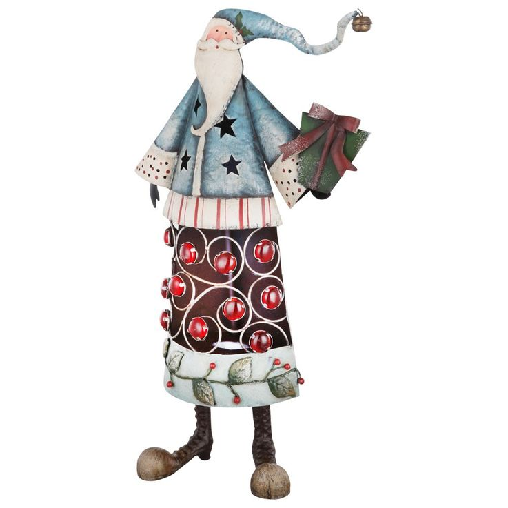 Santa Claus Father Christmas Lamp Christmas decorative stone effect lamp Globo 23214B – Bild 1