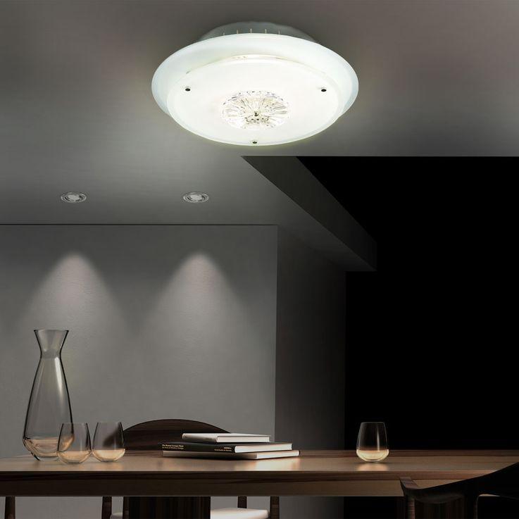 Deckenlampe inkl. 70W Halogenleuchte und Kristallglas CHRIS – Bild 3