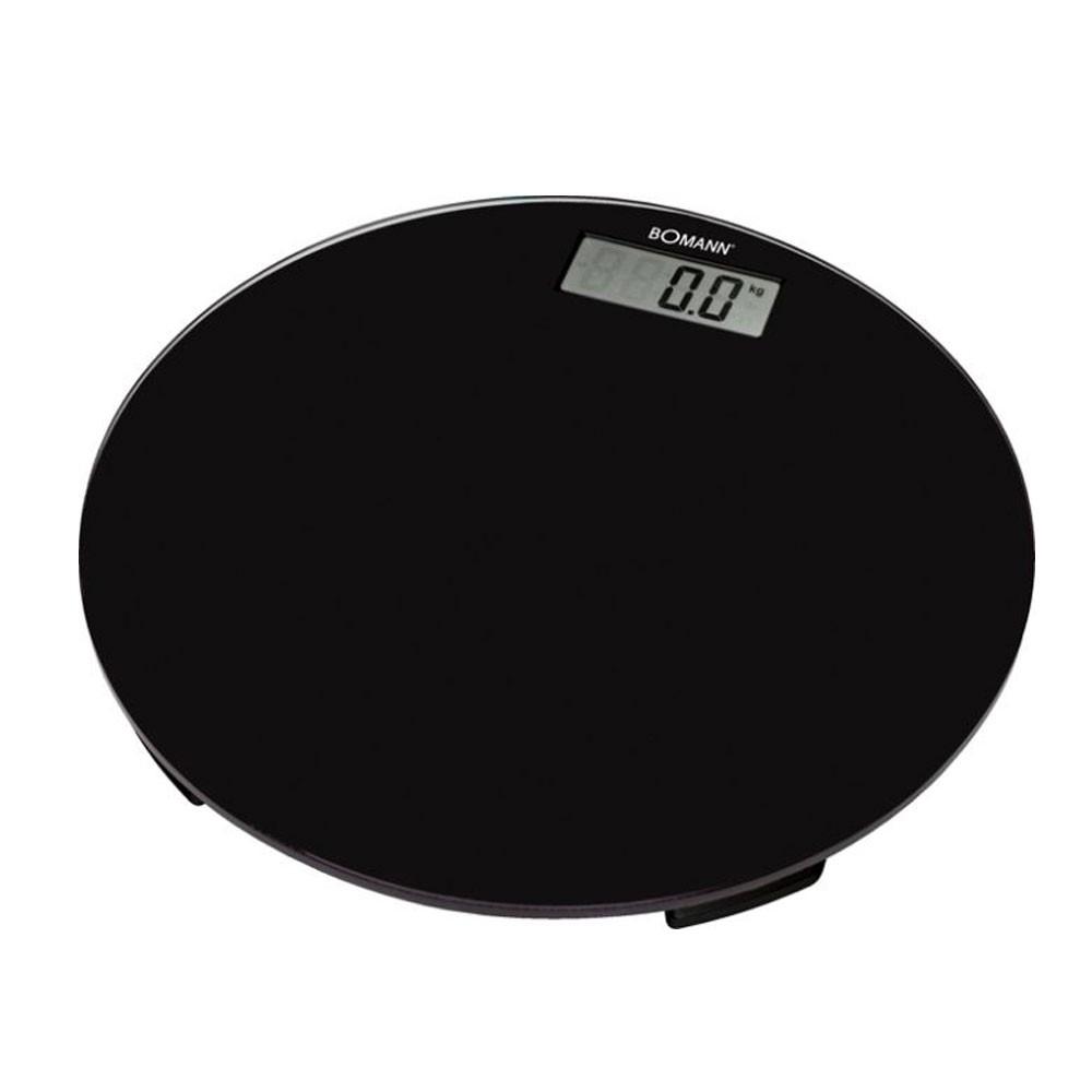 LCD-Display Personenwaage Waage Haushaltswaage Glasoberfläche schwarz Bomann PW 1418 CB