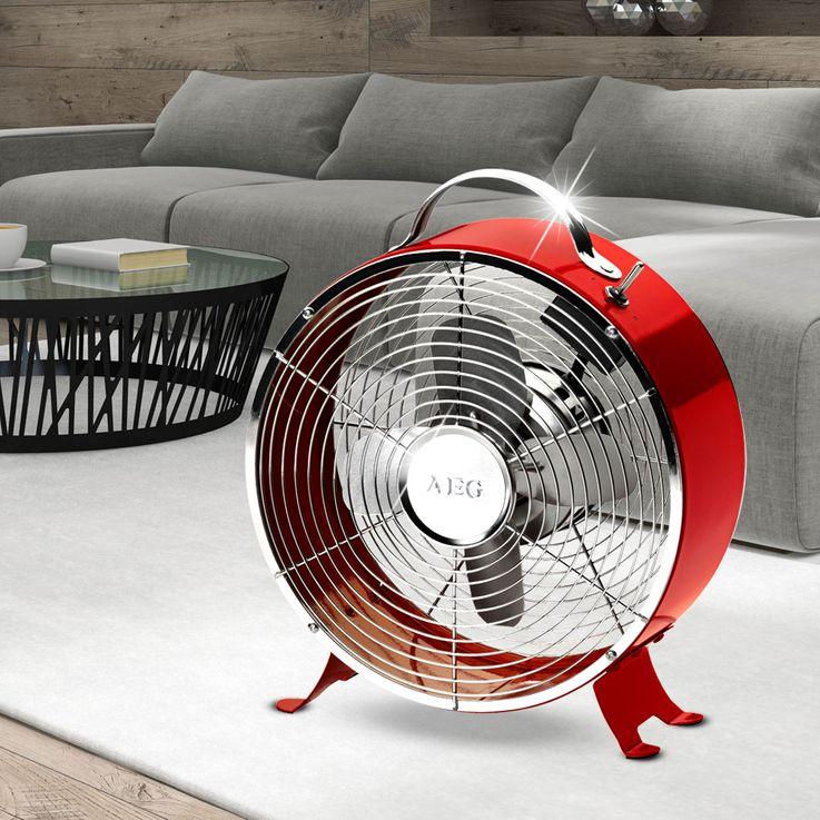 Retro Design Metallventilator Windmaschine Ventilator 20 Watt AEG VL 5617 M Rot – Bild 3