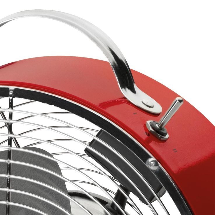 Retro Design Metallventilator Windmaschine Ventilator 20 Watt AEG VL 5617 M Rot – Bild 5