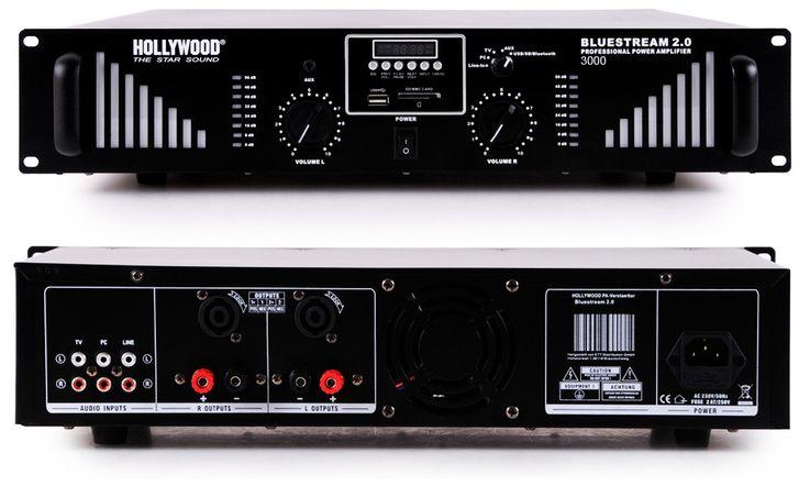 PA system 3000W USB amplifier MP3 SD power amplifier Funkmikrofon-system boxes DJ-Typhoon – Bild 5