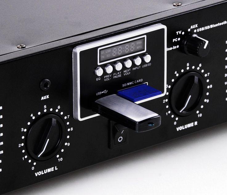 PA system 3000W USB amplifier MP3 SD power amplifier Funkmikrofon-system boxes DJ-Typhoon – Bild 4