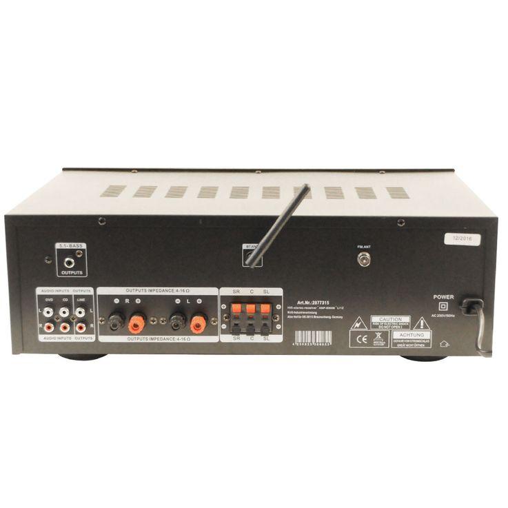 3000W PA Party Musikanlage Boxen USB SD MP3 Bluetooth Verstärker Mixer Funkmikrofon DJ-Tornado – Bild 4