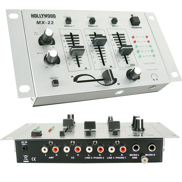 3000W PA Party Musikanlage Boxen USB SD MP3 Bluetooth Verstärker Mixer Funkmikrofon DJ-Tornado – Bild 9