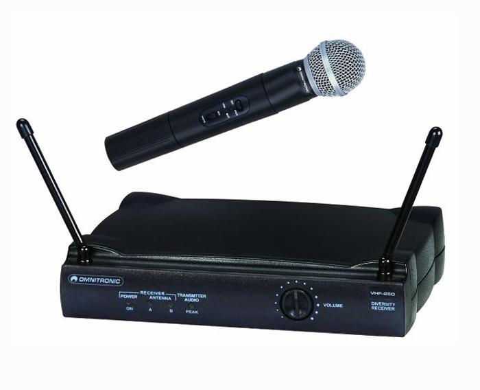 Funkmikrofonset DJ Profi Mikrofon OMNITRONIC VHF-250 179 MHz – Bild 1