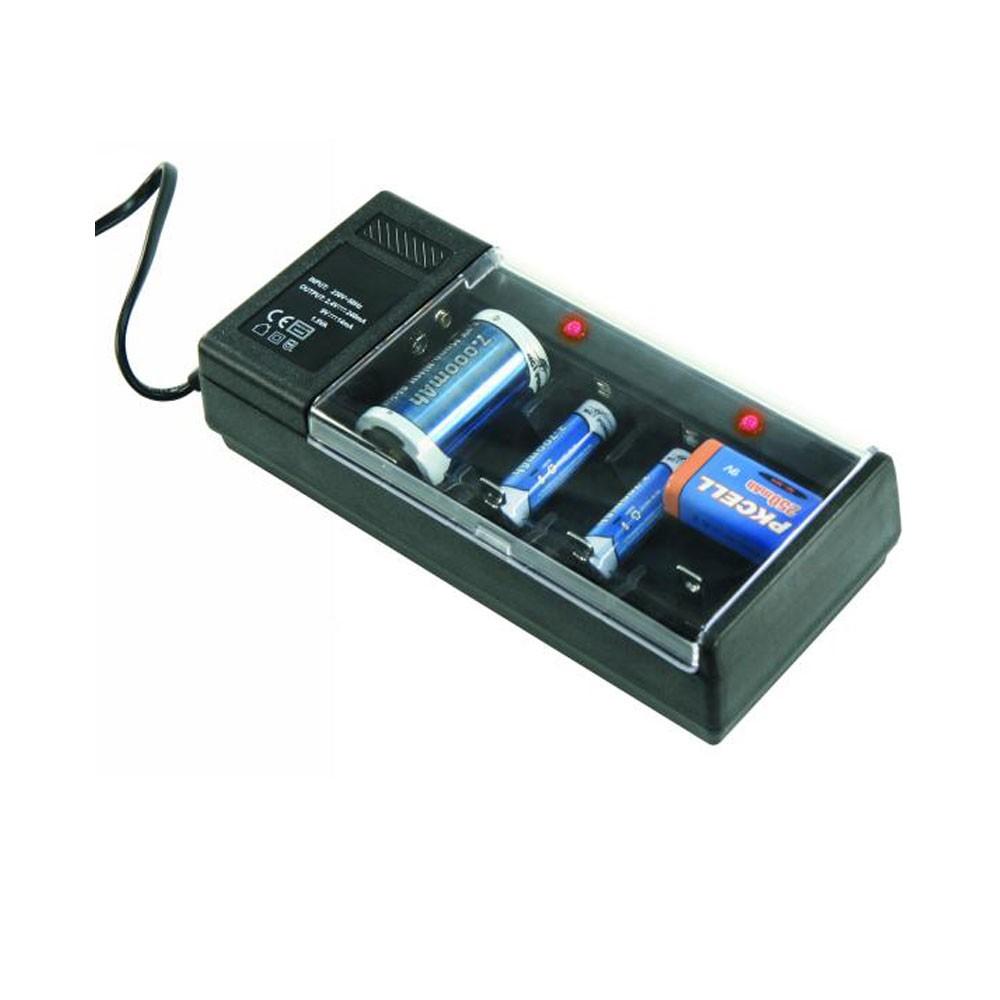 """Chargeur de batterie accu piles McVoice """"LG-2"""" 4x AAA / AA / C / D ou 1x 9V"""