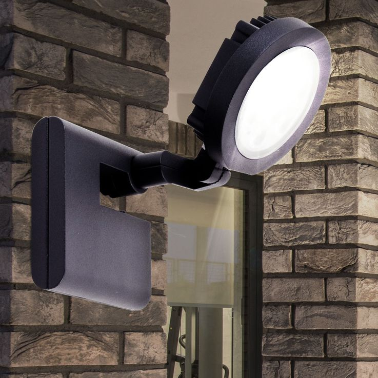 LED 9W outdoor lighting wall spotlight lamp spot movable IP54 Naeve 6102 S GR – Bild 2
