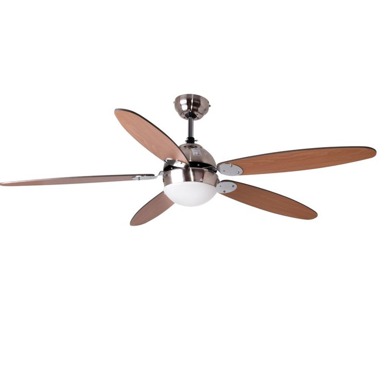 Ceiling fan with lighting and fan pull switch fan lamp light Globo Azura 0308 / 034008 – Bild 1