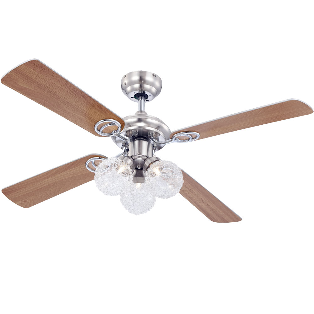 Ceiling fan with light and pull switch lamp ceiling lighting Globo ...