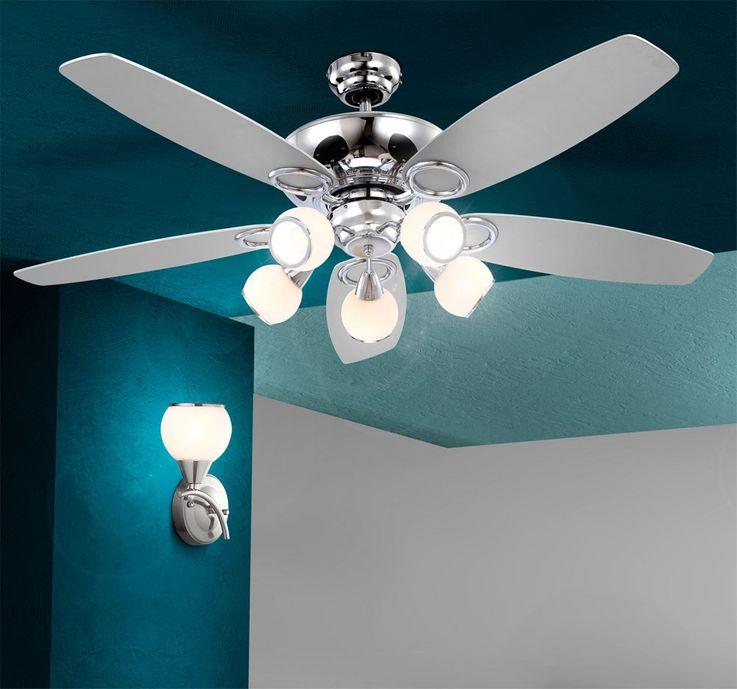 Ceiling fan with light and pull switch lamp ceiling lighting Globo Denim 0335 – Bild 4