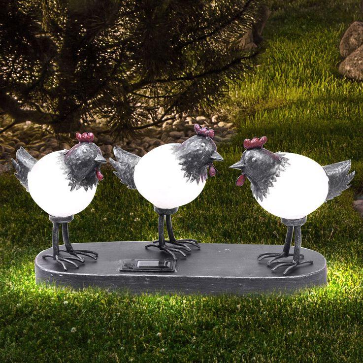 Solarleuchte Küken Außenleuchte Gartenleuchte Solar Leuchte Lampe LED Globo 33352 – Bild 2