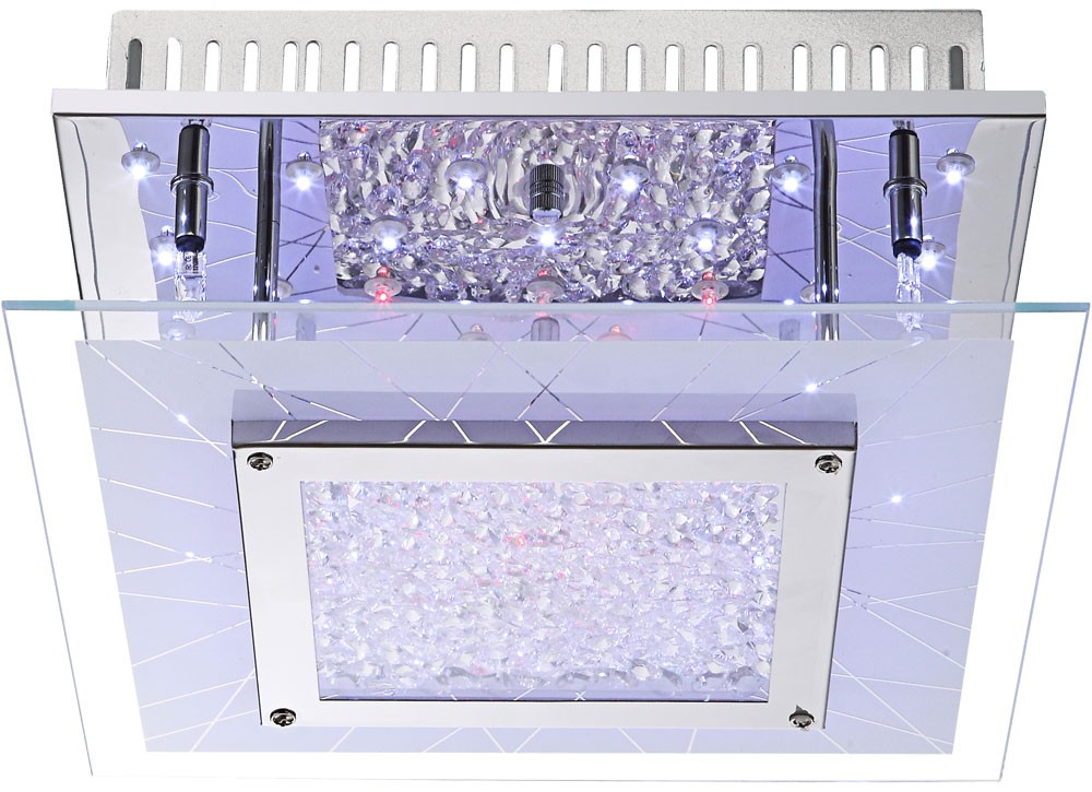 deckenlampe aus chrom mit farbwechsler und fernbedienung lampen m bel r ume wohnzimmer. Black Bedroom Furniture Sets. Home Design Ideas