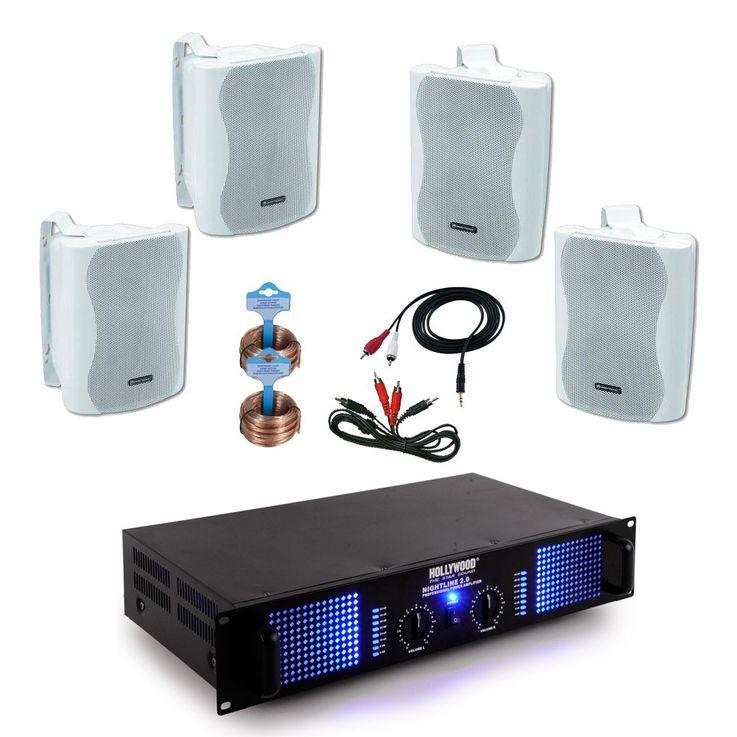 Système de sonorisation gastronomie restaurant bar HiFi 4 x haut-parleurs + amplificateur Gastro-38 – Bild 1